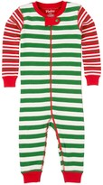 Hatley Green Holiday Stripes Printed Coverall (Baby Boys)