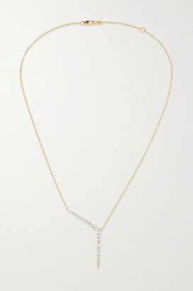Melissa Kaye Aria Y 18-karat Gold Diamond Necklace - one size