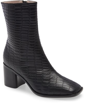 INTENTIONALLY BLANK Contour Croc Embossed Leather Boot