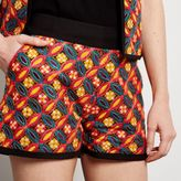 River Island Womens Black embroidered shorts