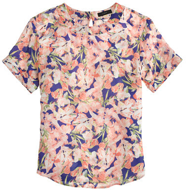 J.Crew Collection silk floral tee