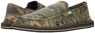 Sanuk Vagabond Camo (Woodland) Men's Slip on Shoes