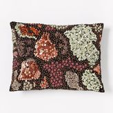Beaded Floral Cluster Pillow Cover