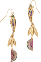 Noir Tropical Linear Drop Earrings