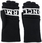Moncler logo fingerless gloves