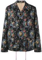 Gucci Lion print military jacket