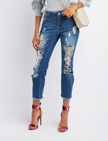 Charlotte Russe Refuge Destroyed Boyfriend Jeans