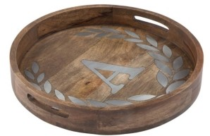 The GG Collection Heritage Collection Monogram Mango Wood Round Tray
