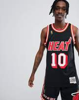 Mitchell & Ness NBA Miami Heat Swingman Tank In Black