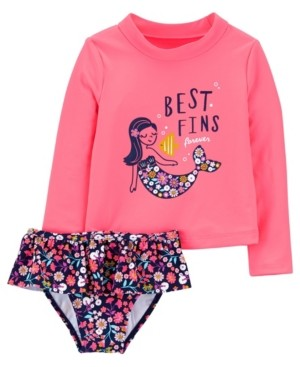 Carter's Toddler Girls Mermaid Rashguard Set, 2 Piece