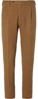 Camoshita Tan Camel And Cotton-blend Corduroy Suit Trousers - Tan