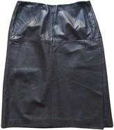 Laurèl Black Leather Skirt for Women