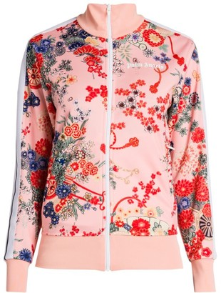 Palm Angels Blooming Zip-Front Track Jacket