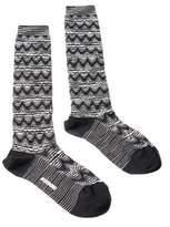 Missoni Gm00wmd5223 0006 Black/white Knee Length Socks.