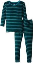 Kickee Pants Print Pajama Set (Toddler/Kid) - Tundra Stripe - 5Y