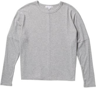 Socialite Crew Neck Dolman Sleeve Ribbed Sweatshirt