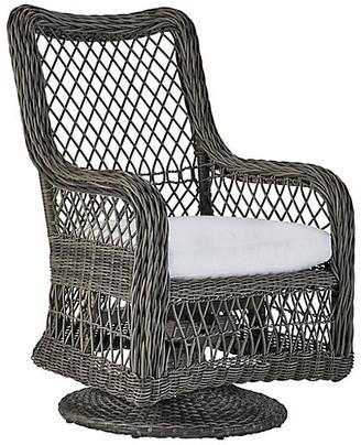 Lane Venture Mystic Harbor Outdoor Swivel Armchair - French Gray