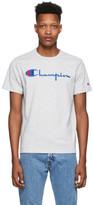 Champion Reverse Weave Grey Big Script Logo T-Shirt