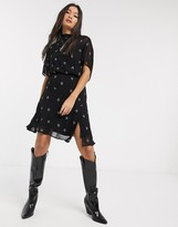 AllSaints giulia cyla embroidered mini dress
