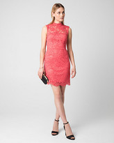 Le Château Lace Mock Neck Cocktail Dress