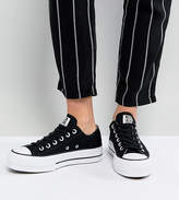 Converse Chuck Taylor All Star Platform Ox Sneakers In Black