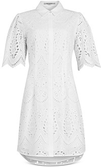 AllSaints CeCee Eyelet Embroidered Shirtdress