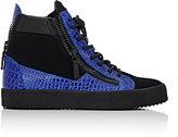 Giuseppe Zanotti Men's Double-Zip High-Top Sneakers-BLUE