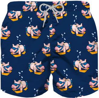 MC2 Saint Barth Piggy Sub Boy Swim Trunks
