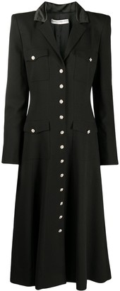 Alessandra Rich Button-Up Midi Dress