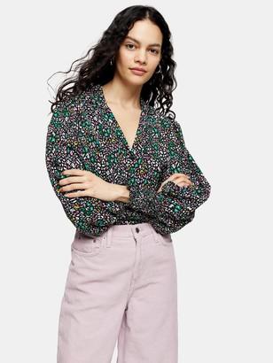 Topshop Bright Animal Print Shirt - Multi