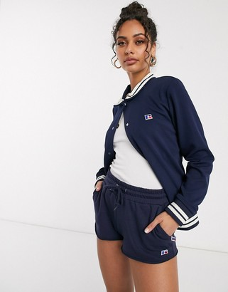 Russell Athletic archive track jacket in navy