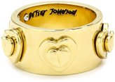 "Betsey Johnson Status"" Heart Embellished Ring"