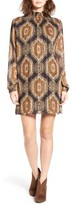 Mimichica Women's Mimi Chica Print Smock Neck Shift Dress