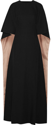 Valentino Cape-effect Cutout Crepe Gown