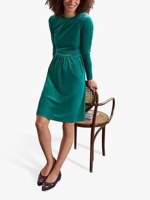 Boden Abigail Velvet Mini Dress, Wild Meadow