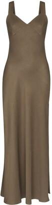 ST. AGNI Open Back Slip Dress