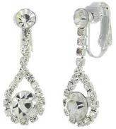 Ily Couture Gazing Tear Drop Clip-on Earrings
