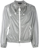 Emporio Armani striped jacket - women - Polyurethane/Modal - 38