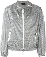 Emporio Armani striped jacket - women - Polyurethane/Modal - 40