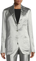 The Row Posner Three-Button Blazer Jacket