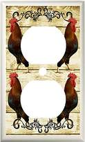 COUNTRY ROOSTER PRIMITIVE KITCHEN DECOR LIGHT SWITCH COVER PLATE OR OUTLET (1x Outlet)