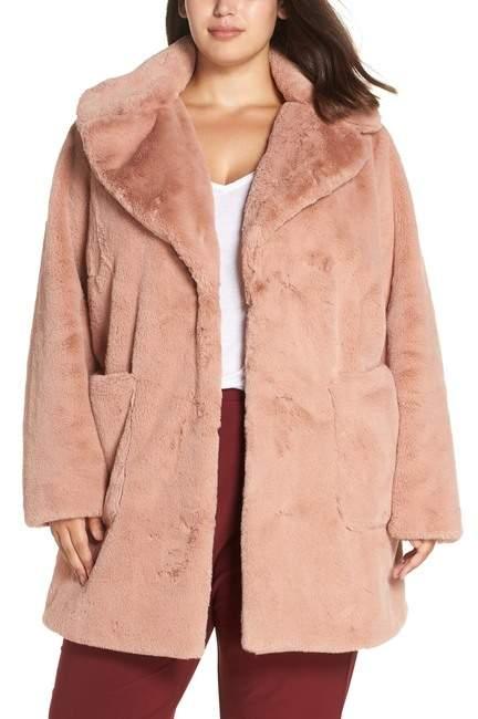 Faux Fur Coat (Plus Size)