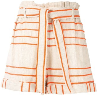 SUBOO Cali paper bag shorts