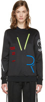 Versace Black Logo Letters Pullover