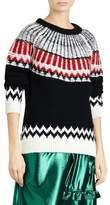 Burberry Trycroft Fair Isle Wool Blend Sweater