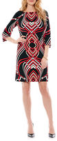 Laundry by Shelli Segal Contrast Print Shift Dress