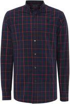 Perry Ellis Men's Grid Long Sleeve Shirt