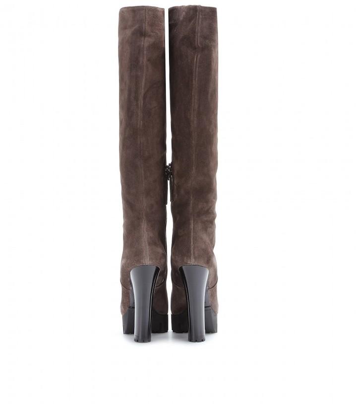 Miu Miu Suede knee boots