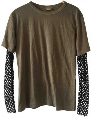 Dries Van Noten Khaki Cotton Top for Women