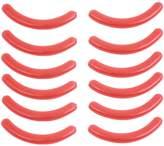uxcell® Rubber Women Beauty Care Makeup Tool Eyelash Curler Pads 12 Pcs Red